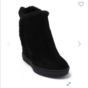 Aquatalia Christen Faux Fur Waterproof Wedge.